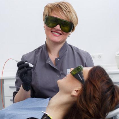 Гигиена и пародонтология - Лазерное отбеливание зубов